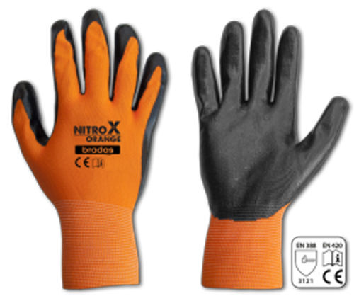 12 Paar NITROX Latexhandschuhe, orange